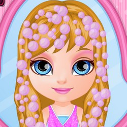 Baby Barbie braided hairstyle