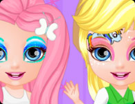 Baby Barbie Little Pony Face Painting