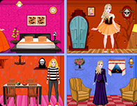 Barbie Halloween Doll House