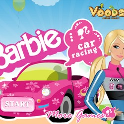 Barbie racing game