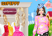Barbies Dotted Dresses Dress Up