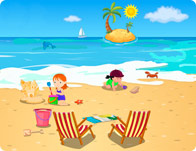 Childrens Beach Decor