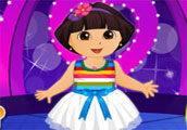 Dora at the Valentine Party Dress Up