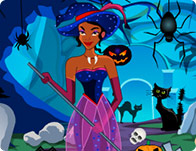 Princess Halloween Graveyard Cleaning
